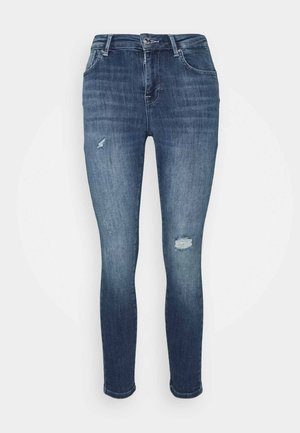 ONLPOWER MID PUSH UP DESTROY - Jeans Skinny Fit - medium blue denim
