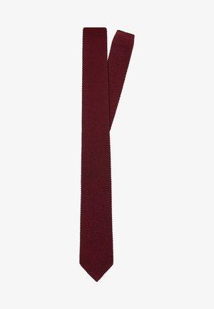 SLIM KNITTED  - Tie - burgundy