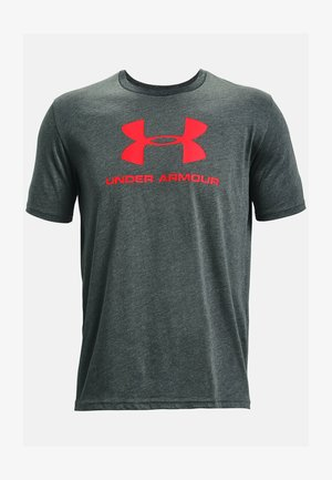 T-shirt print - pitch gray medium heather