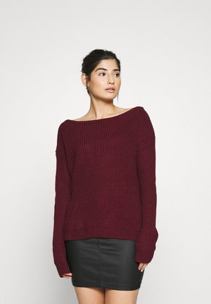 OPHELITA OFF SHOULDER JUMPER - Maglione - burgundy