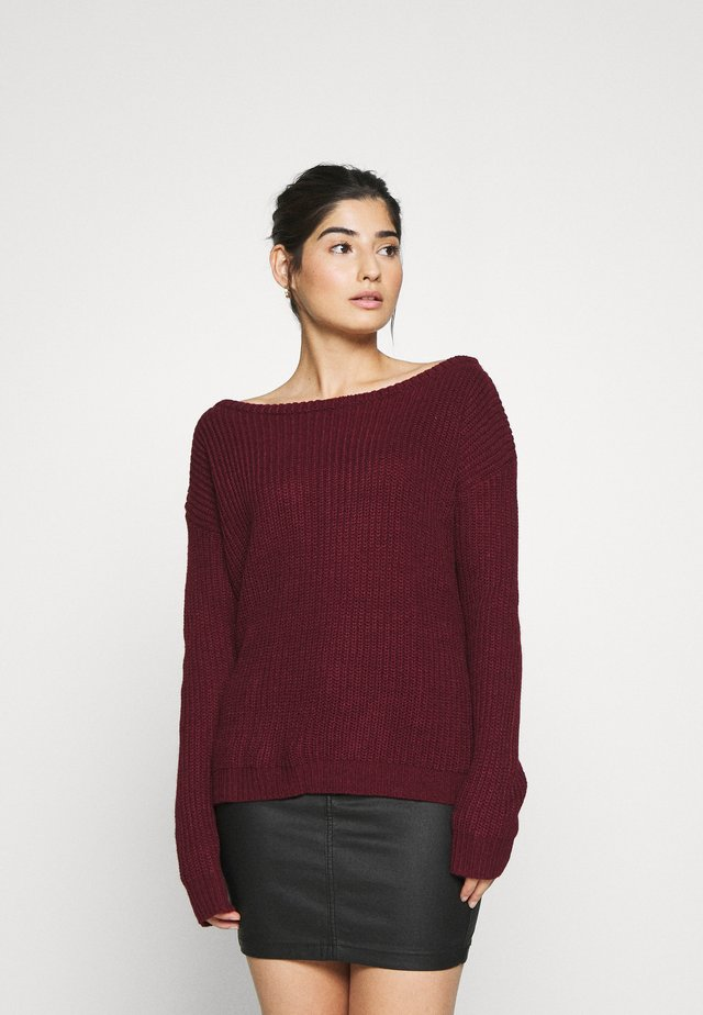OPHELITA OFF SHOULDER JUMPER - Trui - burgundy