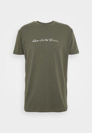 UNISEX ASHLEY TEE - T-shirt z nadrukiem - khaki