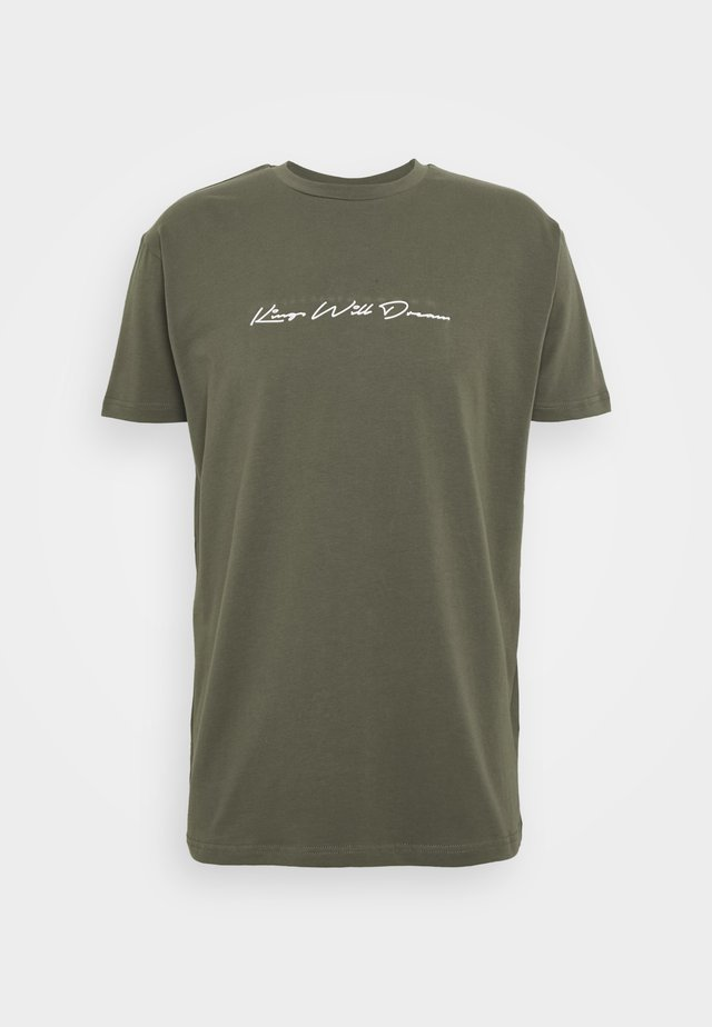 UNISEX ASHLEY TEE - Camiseta estampada - khaki