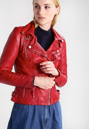 BIKER PRINCESS - Lederjacke - red
