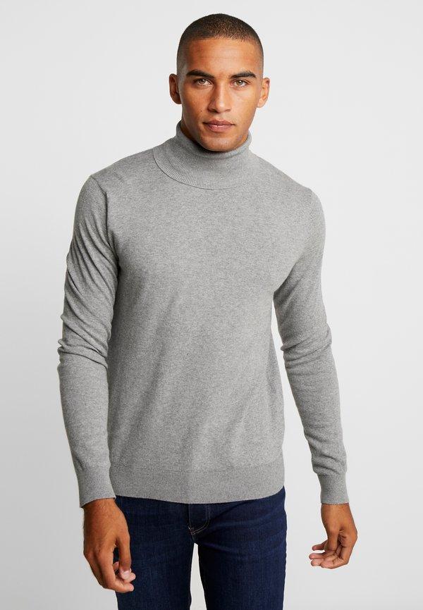 Pier One Sweter - mottled light grey/jasnoszary melanż Odzież Męska DDAP