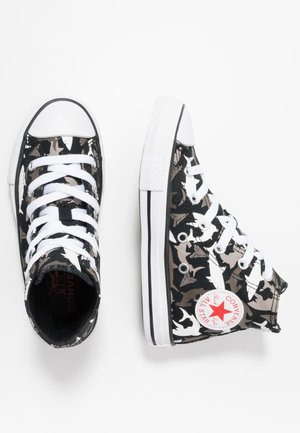 CHUCK TAYLOR ALL STAR SHARK BITE - Korkeavartiset tennarit - black/university red/white