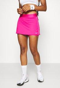 Nike Performance - DRY SKIRT - Sportovní sukně - vivid pink/white/white - 0