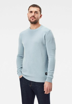 SLEEVE POCKET KNITTED - Jumper - faze blue/delta blue