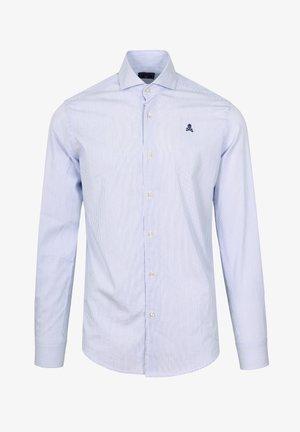 Shirt - white blue stripes