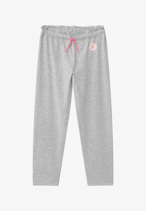 PAPER BAG TAPERED - Tracksuit bottoms - lunar rock heather