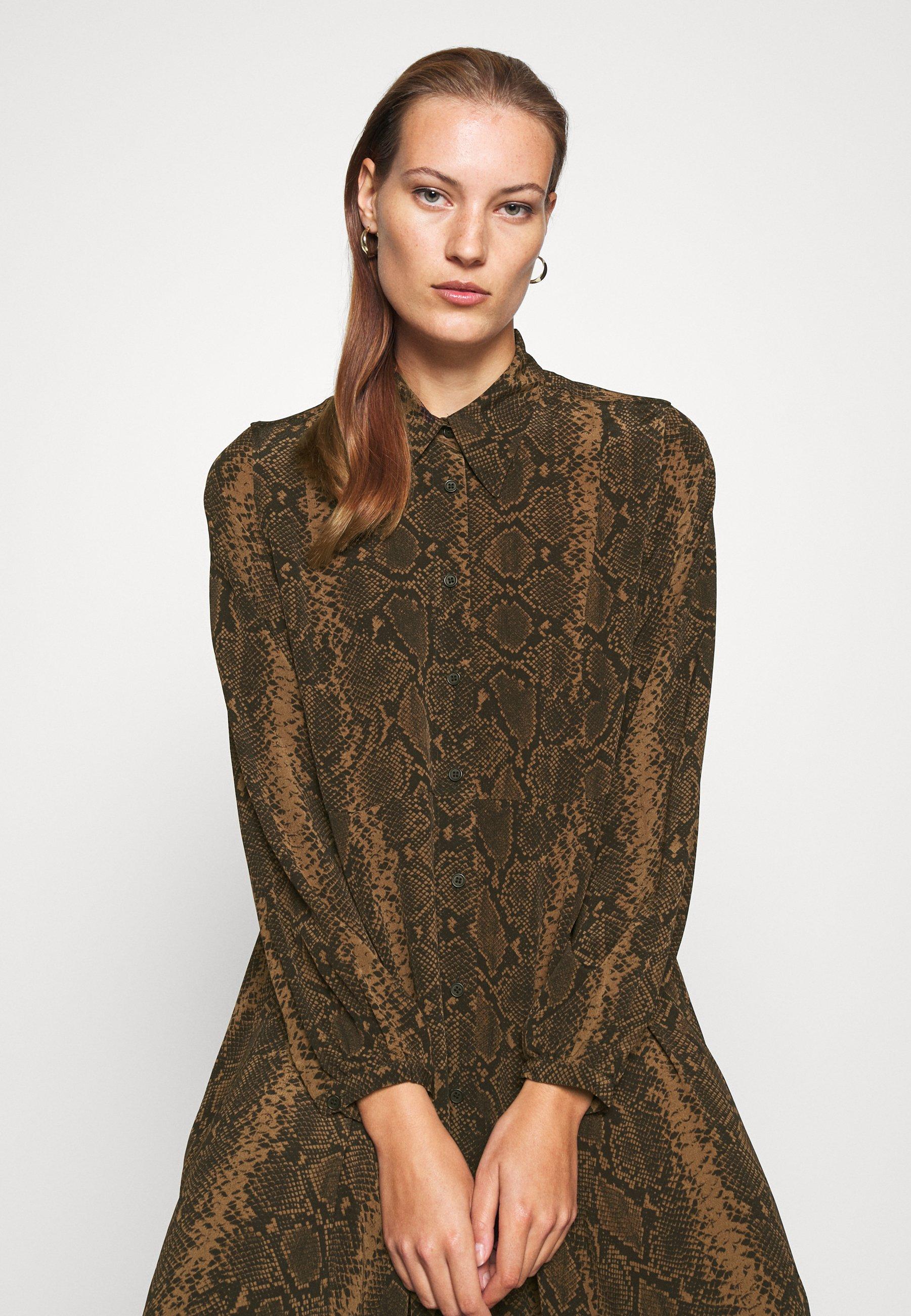 ARKET DRESS Blusenkleid brown medium dusty/schwarz