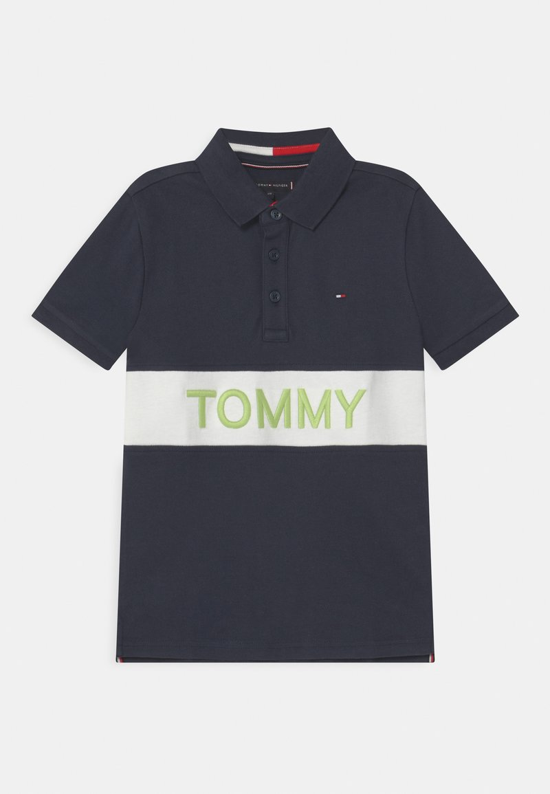 Tommy Hilfiger - BLOCKING  - Poloshirts - twilight navy