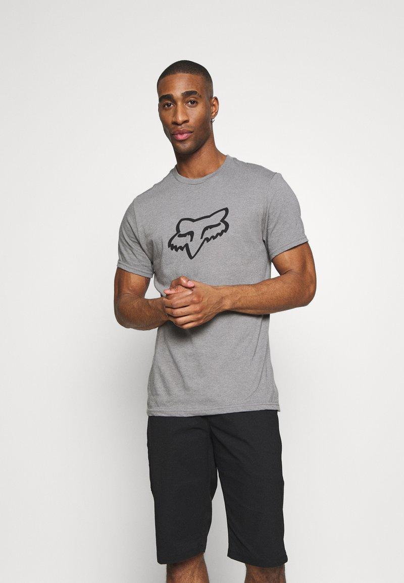 Fox Racing - LEGACY HEAD TEE - Print T-shirt - grey