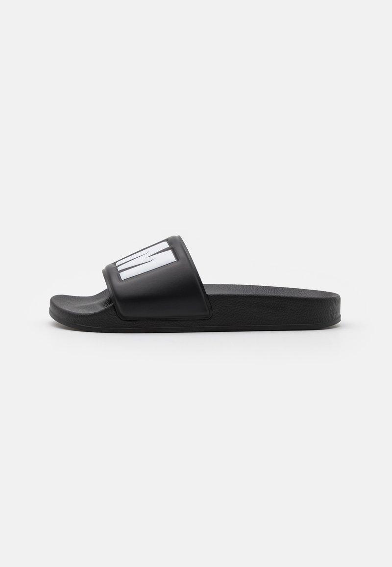 MSGM - LOGO POOL SLIDE - Mules - black