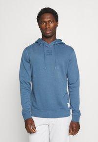 Marc O'Polo DENIM - LONG SLEEVE HOOD - Sweatshirt - grayish petrol - 0