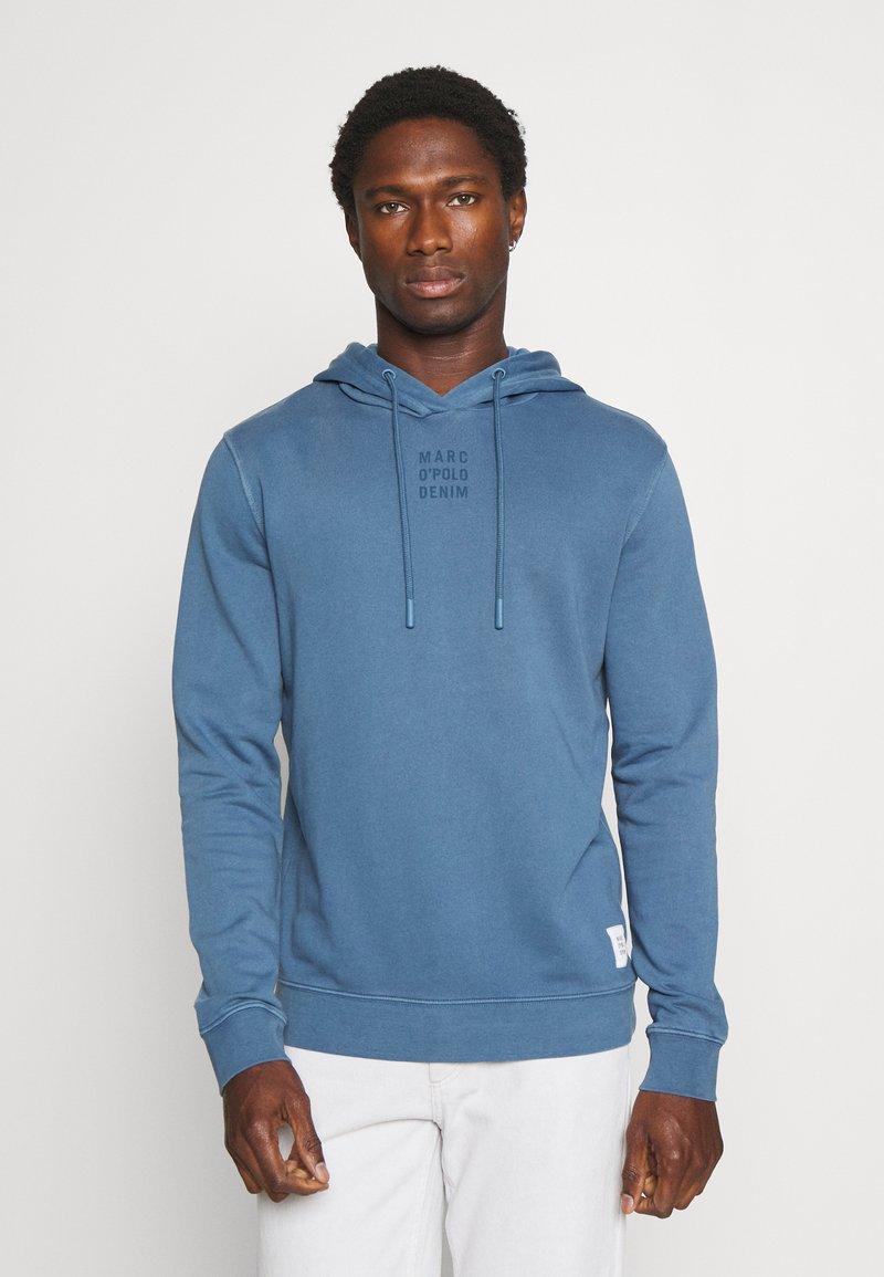 Marc O'Polo DENIM - LONG SLEEVE HOOD - Sweatshirt - grayish petrol