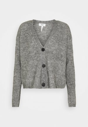 OBJHOLLY - Strikjakke /Cardigans - medium grey melange