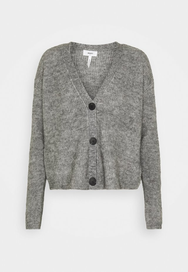 OBJHOLLY - Cardigan - medium grey melange