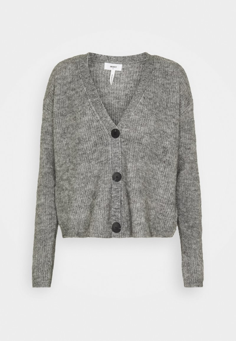 Object Tall - OBJHOLLY - Cardigan - medium grey melange