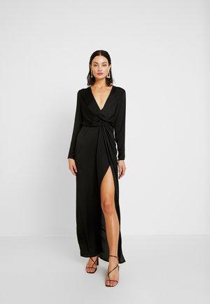 LONG SLEEVE TWIST WRAP DRESS - Maxi dress - black