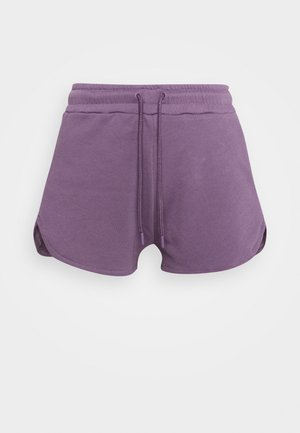 RELAXED FIT HIGH WAIST - Urheilushortsit - purple