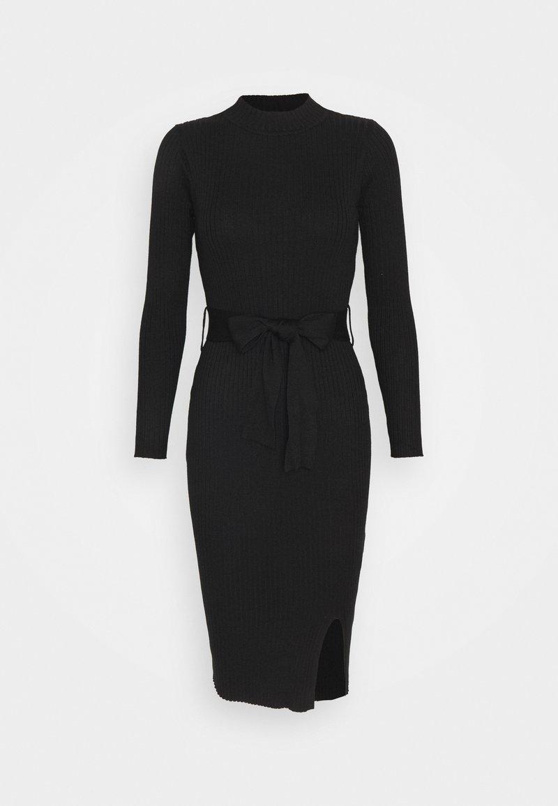 New Look Petite - TIE WAIST MIDI DRESS - Shift dress - black