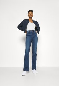 Noisy May - NMSALLIE - Flared jeans - medium blue denim - 1
