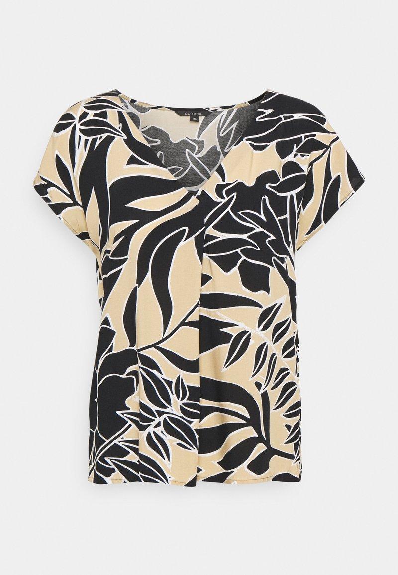 comma - Print T-shirt - beige
