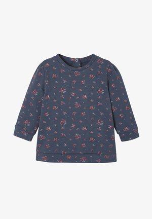 Sweatshirt - jeansblau bedruckt