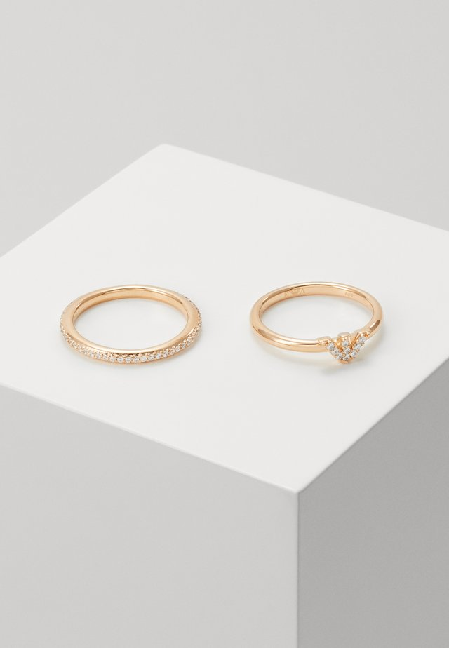 BAGUETTES 2 PACK - Ring - rose gold-coloured