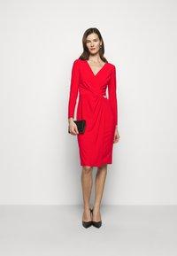 Lauren Ralph Lauren - CLASSIC DRESS - Jersey dress - lipstick red - 1