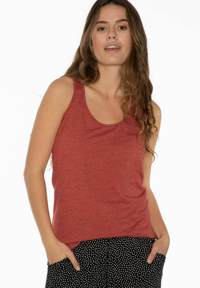 BECCLES SINGLET  - Top - clay