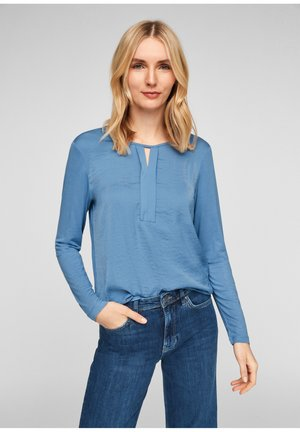 MIT PLISSEE-DETAIL - Blouse - light blue