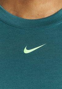 Nike Performance - DRY STRIPE - Top - dark teal green/lime glow - 3
