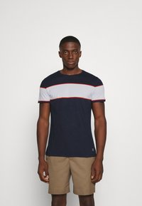 Blend - TEE - Print T-shirt - dark navy - 0