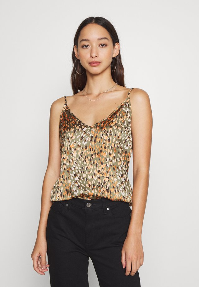 WILLOW PRINT CAMI - Top - green