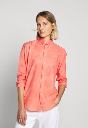 RELAXED LONG SLEEVE - Button-down blouse - amalfi red