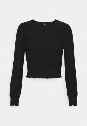 ONLNELLA SMOCK - Maglietta a manica lunga - black