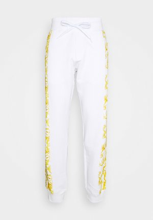 PRINT LOGO BAROQUE - Tracksuit bottoms - white