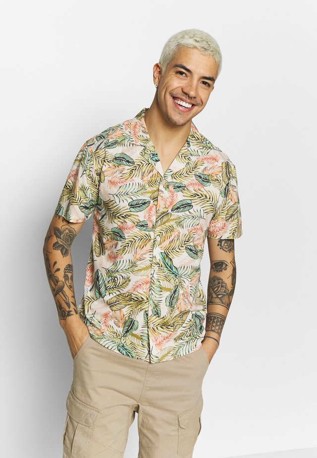 LEAF PRINTED SHORT SLEEVE SHIRT  - Shirt - multi-coloured