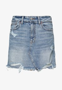 American Eagle - HI RISE MINI SKIRT - Jeansnederdel/ cowboy nederdele - medium destroy - 3