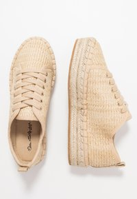 Miss Selfridge - TABAGO TRAINER - Espadrillas - natural - 3
