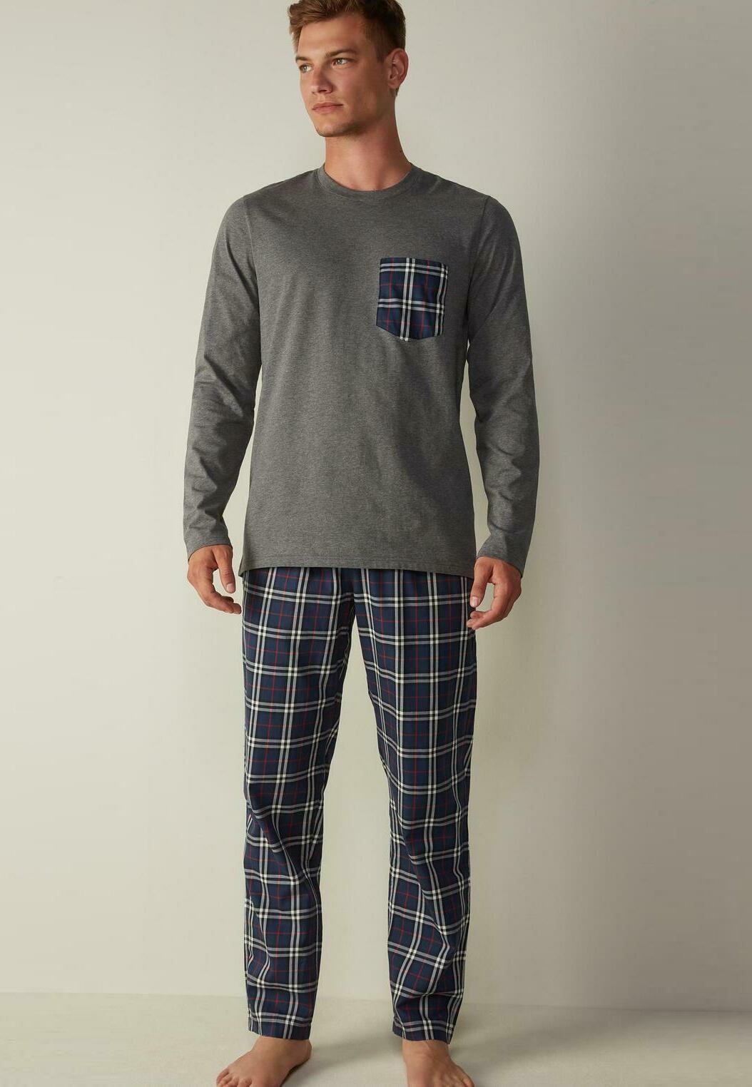 Herren MIT SCHOTTENKAROMUSTER SET - Pyjama