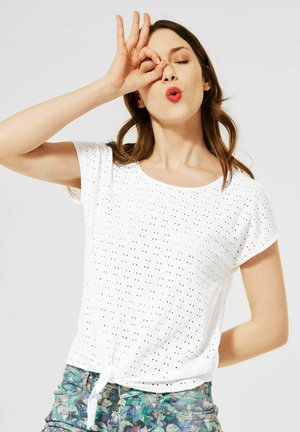 MIT STRUKTUR - Print T-shirt - weiß