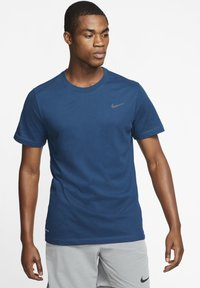 Nike Performance - DRY TEE CREW SOLID - Basic T-shirt - blue - 0