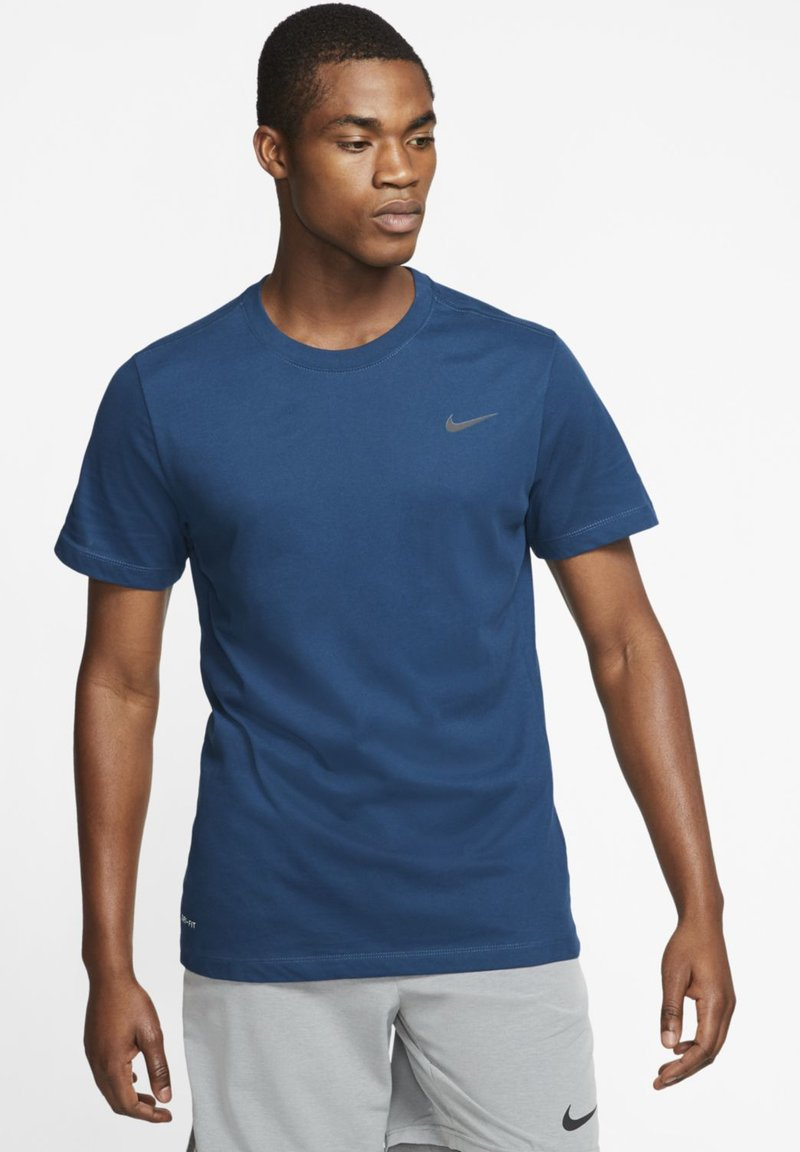 Nike Performance - DRY TEE CREW SOLID - Basic T-shirt - blue