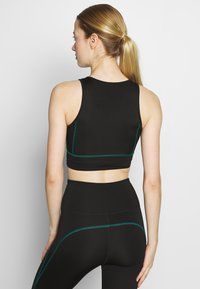 South Beach - ZIP CROP - Top - black - 2
