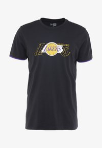 New Era - NBA GRAPHIC TEE LOS ANGELES LAKERS - T-Shirt print - black - 4