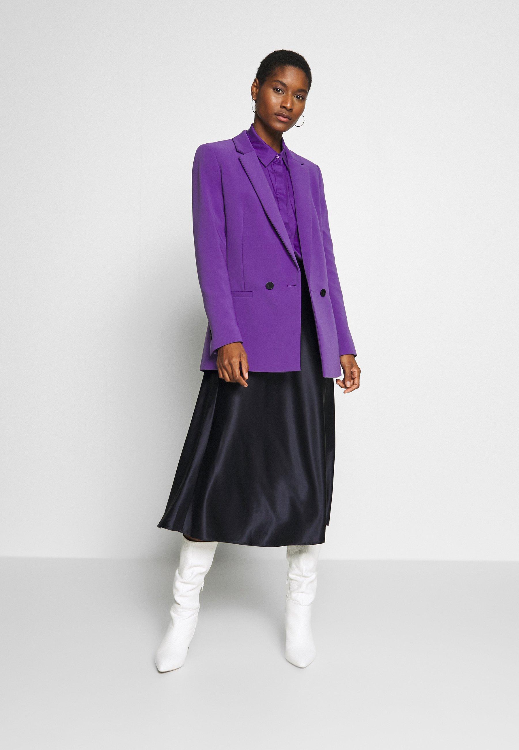 Halflange jas purple