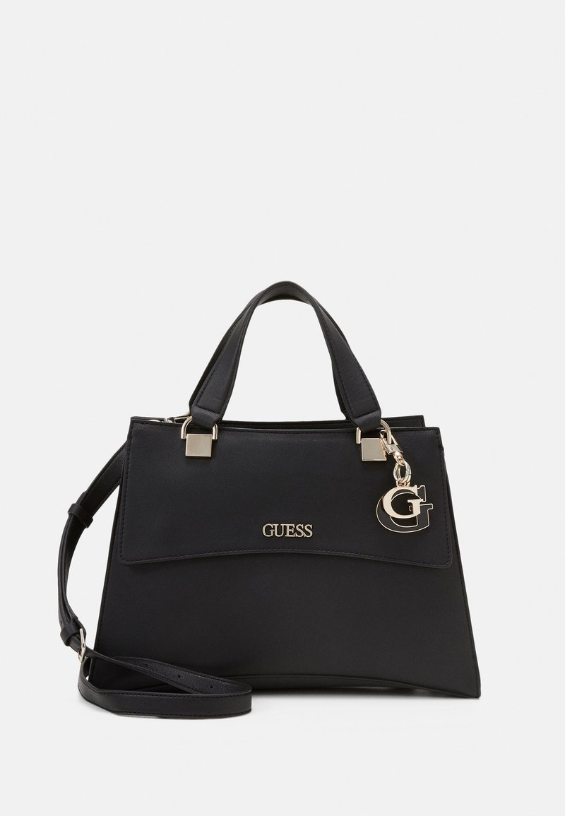 Guess - HANDBAG DALMA GIRLFRIEND SATCHEL - Handbag - black